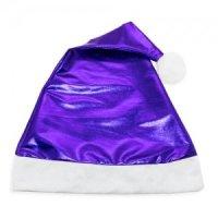 Bonnet Noël Bleu Métallisé