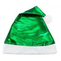 Bonnet Noël Vert Métallisé