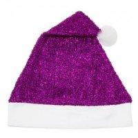 Bonnet Noël Violet avec Paillettes