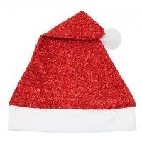 Bonnet de Noël Rouge avec Paillettes
